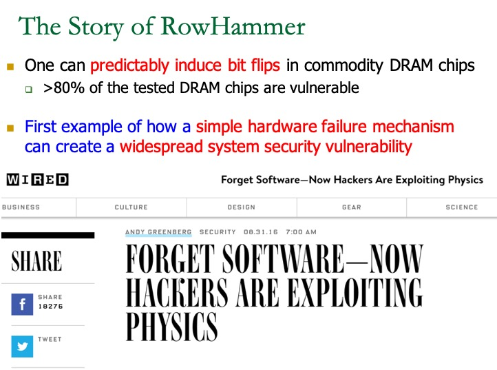 RowHammer: causes, solutions, and beyond – SAFARI Research Group